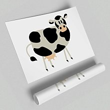 Cow Stare Paper Print East Urban Home