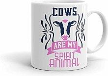 Cows are My Spirit Animal Funny Farmer Coffee Mug