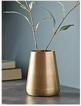 Cox & Cox Brushed Gold Tall Vase