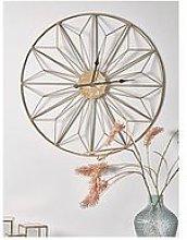Cox & Cox Distressed Brass Geometric Clock