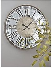 Cox & Cox Mirrored Roman Clock