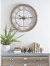 Cox & Cox Weathered Wood Cut Out Clock