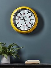 Cox & Cox Yellow Gas Station Style Clock