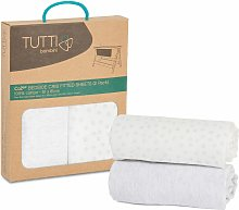 CoZee 2 Pack Fitted Sheets - Cloud Grey