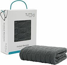 CoZee Knitted Blanket - Charcoal