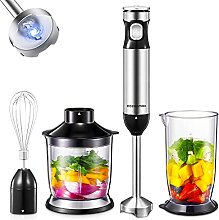 Cozeemax 1000W Hand Immersion Blenders, 4 in 1