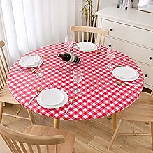 Cozomiz Round Fitted Waterproof Tablecloth Elastic