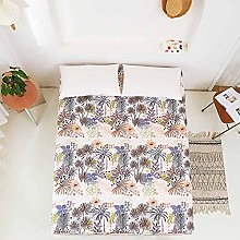 Cozy Plants Floral Printed Polyester Bed Cover
