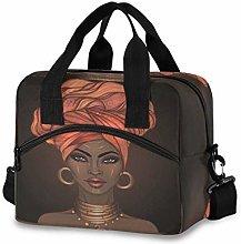 CPYang African Women Pattern Lunch Bag Reusable