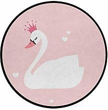 CPYang Area Rug Animal Bird Valentine Swan