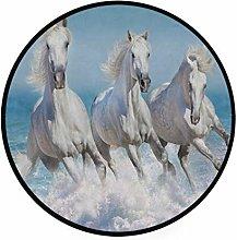 CPYang Area Rug Beach Running Animal Horse