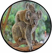 CPYang Area Rug Forest Tree Animal Koala Non-Slip