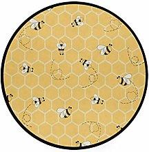 CPYang Area Rug Honeycomb Animal Bee Non-Slip
