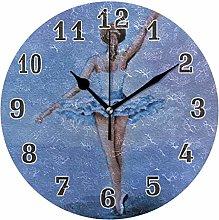 CPYang Art Painting Ballerina Wall Clock, Silent