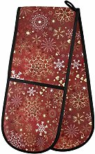 CPYang Christmas Red Snowflakes Double Oven