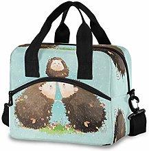 CPYang Cute Animal Hedgehog Family Lunch Bag