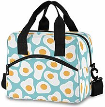 CPYang Cute Poached Egg Pattern Lunch Bag Reusable