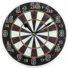 CPYang Dart Board Pattern Wall Clock, Silent