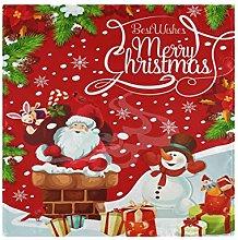 CPYang Dinner Cloth Napkins Christmas Santa