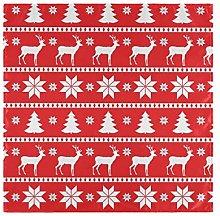 CPYang Dinner Cloth Napkins Christmas Snowflake