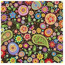 CPYang Dinner Cloth Napkins Ethnic Floral Flower