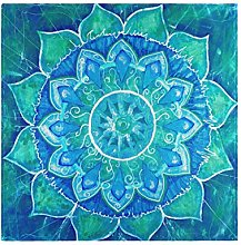 CPYang Dinner Cloth Napkins Tribal Flower Mandala