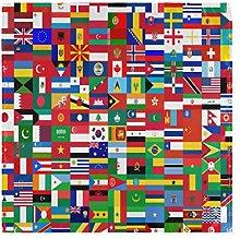 CPYang Dinner Cloth Napkins World Flag Pattern Set