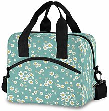 CPYang Floral Daisy Print Lunch Bag Reusable Lunch
