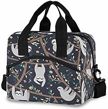 CPYang Floral Tree Animal Sloth Lunch Bag Reusable