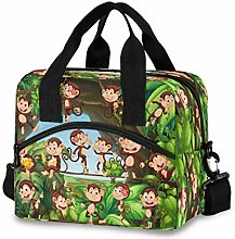 CPYang Forest Tree Animal Monkey Lunch Bag