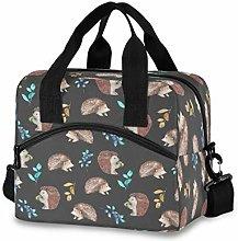 CPYang Hedgehog Blueberry Leaves Lunch Bag