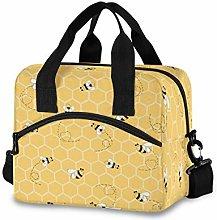 CPYang Honeycomb Animal Bee Lunch Bag Reusable