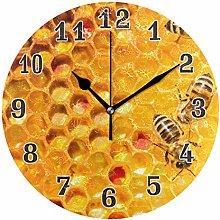 CPYang Honeycomb Bee Wall Clock, Silent