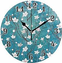 CPYang Japanese Flower Wall Clock, Silent