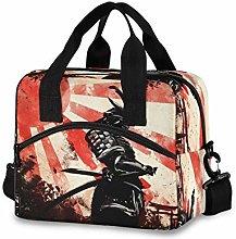 CPYang Japanese Samurai Red Sun Lunch Bag Reusable