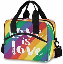 CPYang Love is LGBT Rainbow Lunch Bag Reusable