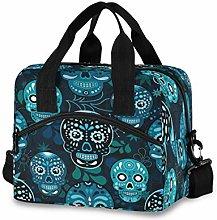 CPYang Mexico Sugar Skull Leaves Lunch Bag