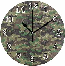 CPYang Military Camo Camouflage Wall Clock, Silent