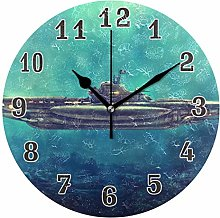 CPYang Ocean Submarine Ship Wall Clock, Silent