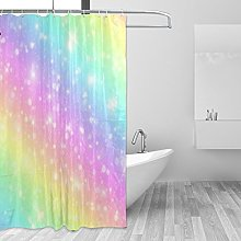 CPYang Pastel Galaxy Sky with Rainbow Polyester