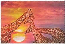 CPYang Placemats Set of 1, Africa Animal Giraffe