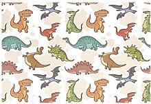 CPYang Placemats Set of 1,Animal Dinosaur Pattern