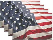 CPYang Placemats Set of 4, American Flag Place