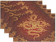 CPYang Placemats Set of 4,Orient Chinese Animal