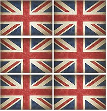 CPYang Placemats Set of 6,Vintage Uk Flag Union