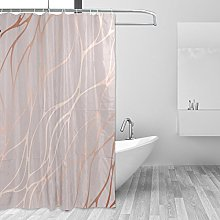 CPYang Rose Gold Marble Polyester Fabric Shower
