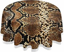 CPYang Round Tablecloth Animal Snake Print