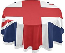 CPYang Round Tablecloth British Flag Union Jack