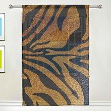 CPYang Sheer Curtain Animal Tiger Print Voile