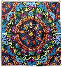 CPYang Shower Curtains Indian Floral Mandala
